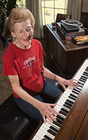 With relief from atrial fibrillation, Patricia House's heart is playing in tune.