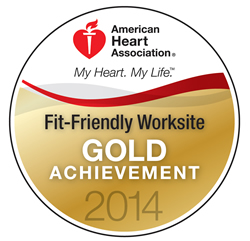 American Heart Association Fit-Friendly Worksite Gold Achievement 2014