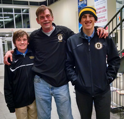 """Tim Huffman and sons: """"I'm very lucky to be here"""""""